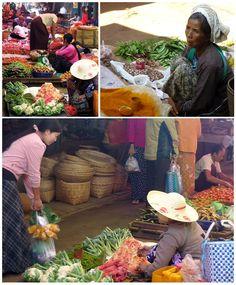 Myanmars Straßenmärkte bieten eine kulinarische Vielfalt von sachönsten Farben, denn das Auge isst ja bekanntlich mit.