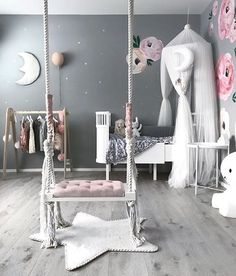 365 Likes, 3 Comments – Kids Decor / Nursery Decor (Jennifer Ver … - Room Decor Cute Bedroom Ideas, Cute Room Decor, Girl Bedroom Designs, Baby Room Decor, Kids Decor, Girls Room Design, Room Baby, Baby Bedroom, Nursery Room
