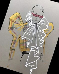 322 Likes 12 Comments Fashion Strokes Elly Azizian (fashion. Illustration Mode, Fashion Illustration Sketches, Fashion Sketches, Dress Sketches, Fashion Design Portfolio, Fashion Design Drawings, Drawing Fashion, Fashion Sketchbook, Fashion Painting