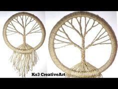 DIY Vintage tree Dream Catcher  room decoration ideas   Jute Craft   easy craft - YouTube