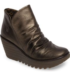 c67c503a91cd6a Main Image - Fly London  Yip  Wedge Bootie (Women) Walk A Mile