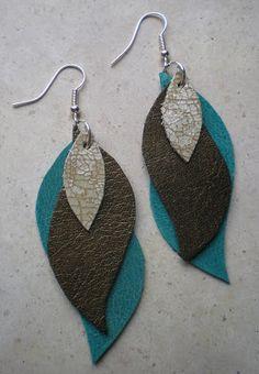 Ohrringe aus Leder