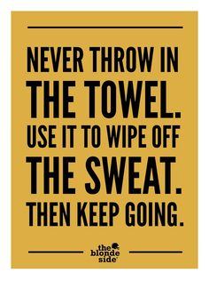Never throw in the towel! #volleyball #sportquotes #volleyballquotes