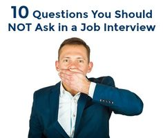 Never ask these questions in a job interview #interviews