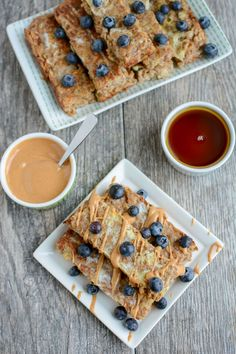 These Banana Baked OatmealFrench Toast Sticks are a healthy, gluten-free, kid-friendly breakfast recipe. They can even be made ahead of time & frozen!