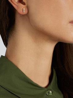 Diamond & yellow-gold earring | Ileana Makri | MATCHESFASHION.COM UK