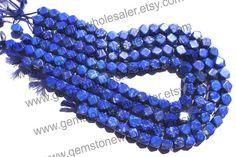 Lapis Lazuli Cut Square Quality A / 36 cm / by GemstoneWholesaler