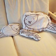 beaver pillows