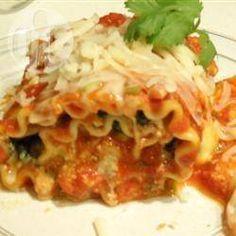 Rouleaux de lasagne aux épinards @ qc.allrecipes.ca