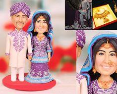 India Asia theme Personalised wedding cake by UniqueCakeToppers