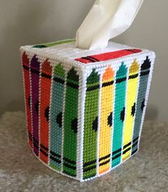 Plastic Canvas Tissue Boxes, Tissue Box Covers, Felt Crafts, Facial Tissue, Christmas Crafts, Kids, Craft Ideas, Boutique, Young Children