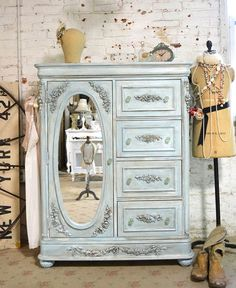 Painted Cottage Chic Shabby Romantic French  Dresser LGCH29