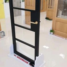 Our Crittall glass doors come in a Matt black finish and clear safety glass. Available from our Showrooms and online.