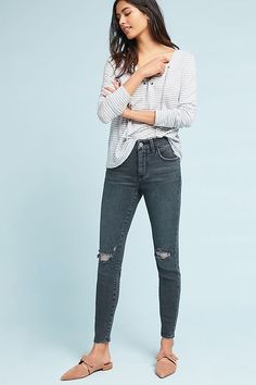 Slide View: 2: Pilcro High-Rise Skinny Ankle Jeans