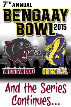 7th Annual BenGaay Bowl T-ShirtFort Pierce Central Cobras Vs. Fort Pierce Westwood Panthers Alumni Football Rivalry Continues Size(s) S-XL = $16Size(s) 2-3X = $18Size 4x        = $20*Partial proceeds to benefit each of the high schools.