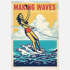 Making Waves Print 42x60, 22€, now featured on Fab.