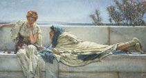 Sir Lawrence Alma-Tadema, Pleading, 1876, oil on canvas. - Guildhall Gallery and Roman Ampitheatre