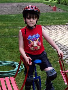 Toby's 1st day of unicycle camp. Sunday,April 17,2016