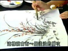▶ 大家學國畫(12)_四君子_蘭花彩墨表現_許富春老師2013-01-20 - YouTube