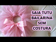 Como fazer saia de bailarina sem costura ❤ Cami Deoli - YouTube