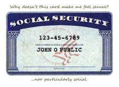 Why doesn't this card make me feel secure? ...nor particularly social