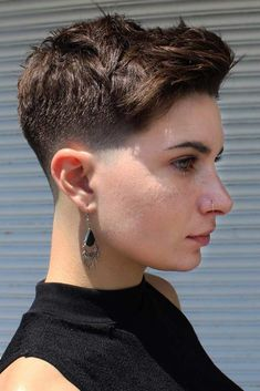High Top Fade #fadehaircut #shorthaircuts #pixiecut ❤️ Do you know that a taper haircut has become quite popular among women today? We all know that men used to sport such cuts, but now we can often see women rocking this super edgy and daring cut. Keep up and pick one for yourself. We have included some taper haircut pictures, check out the gallery! ❤️ See more: #lovehairstyles #hair #hairstyles #haircuts