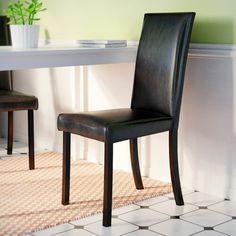 Keven Solid Wood Dining Chair (Set of Mercury Row Black Leather Dining Chairs, Solid Wood Dining Chairs, Upholstered Dining Chairs, Dining Chair Set, Table And Chairs, Homestead Living, Mid Century Chair, Modern, Upholstery