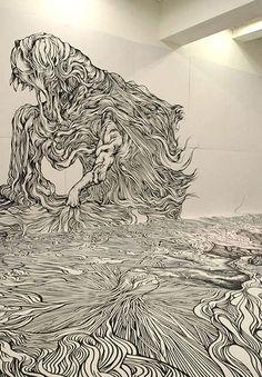 Yosuke Goda - black and white psychedelia