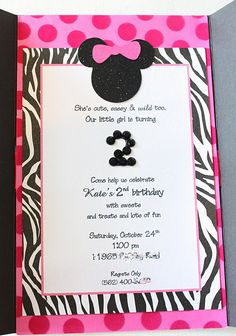 minnie mouse birthday invitation for Ms Lorelai, she loves minnie:)