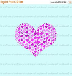60% OFF SALE KP465 - Pink Heart - Printable clipart Digital image Fabric Transfer Supplies Cardmaking Scrapbooking Instant Download Crafts (0.82 GBP) by KnowPressClipart