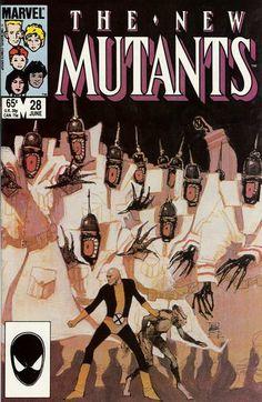 New Mutants # 28 by Bill Sienkiewicz