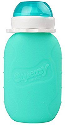 Amazon.com : Reusable Baby Food Pouch + Squeeze, Portable, Refillable Baby Food Container, Storage + Great for Smoothies and Snacks + 100% Food Grade Silicone - Squeasy Snacker - Featuring No-Spill Insert : Baby
