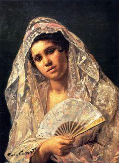 Mary Cassatt - Spanish Dancer Wearing_A_Lace Mantilla