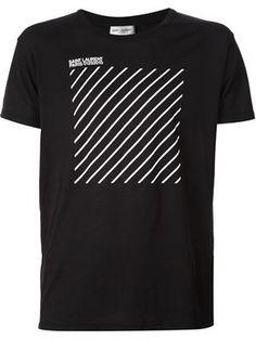 ストライププリント Tシャツ