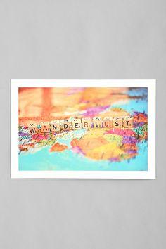 Shannon Blue Wanderlust Art Print