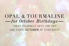 Opals have a reputation for bring good luck,but this often comes with a big price tag. We have this luxurious look for less. Don't miss out, start shopping! Sale ends 10/10.