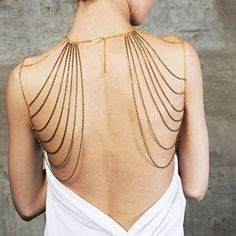 Beautiful Gold Layered Body Chain Necklace