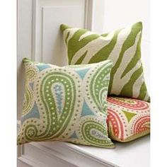 needlepoint pillows...I need to make these!