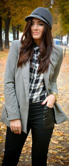 Black Checked Jack  by Stylish !