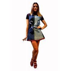 Mini Vestido Vaquero 35.50€ Mini Vestidos, Overall Shorts, Shirt Dress, T Shirt, Overalls, Dresses, Women, Fashion, Supreme T Shirt