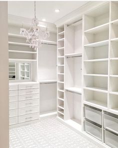 45 Brilliant Closet Organization Ideas - Page 2 of 45 - VimDecor closet designs; Master Closet Design, Walk In Closet Design, Master Bedroom Closet, Closet Designs, White Bedroom, Bedroom Wall, Master Closet Layout, Bedroom Decor, Wardrobe Design