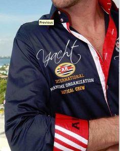 #Yacht #Racing #Navy #Red #Collar #Lining