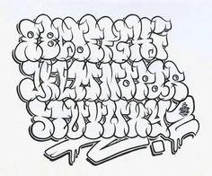 Graffiti Text, Wie Zeichnet Man Graffiti, Graffiti Lettering Alphabet, Tattoo Fonts Alphabet, Chicano Lettering, Graffiti Writing, Graffiti Tattoo, Tattoo Lettering Fonts, Street Art Graffiti