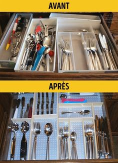 Provided you organize your living space wisely, it will be comfortable to live and work in, even if you live in the most humble abode. Plus, you'll save a lot of time during the cleaning process. Clutter Organization, Home Organization Hacks, Kitchen Organization, Organizing, Acrylic Containers, Lampe Retro, Clutter Free Home, Clean And Shiny, Ideas Geniales