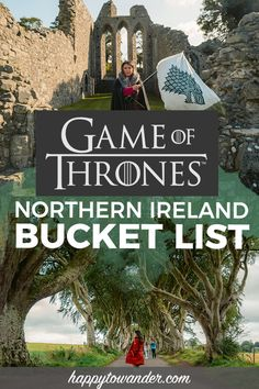 Game of Thrones in Northern Ireland: Bucket List Experiences, Tours & Filming Locations! The ULTIMATE Game of Thrones bucket list for Northern Ireland. Includes all the most epic Game of Thrones filming locations, Game of Thrones tours from Europe Destinations, Best Holiday Destinations, Europe Travel Tips, Places To Travel, Travel Goals, Travel Info, Travel Guides, Belfast, Oregon