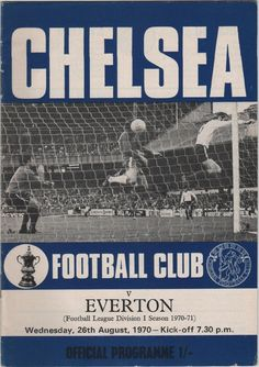 Vintage Football Programme - Chelsea v Everton, 1970/71 season, by DakotabooVintage, £3.99