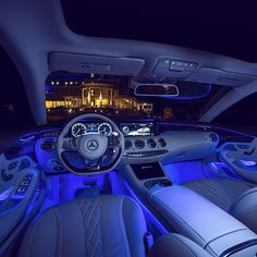 Beautiful interior in a Mercedes-Benz