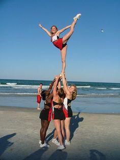college cheerleader, cheerleading, stunts, scale #KyFun kcwftp