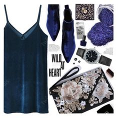 """""""Deep blue velvet"""" by pastelneon ❤ liked on Polyvore featuring beauty, Kendall + Kylie, Casetify, Black, RGB and vintage"""