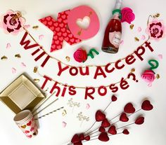 Will You Accept This Rosé? Banner by SoireeAllday on Etsy https://www.etsy.com/listing/507527337/will-you-accept-this-rose-banner